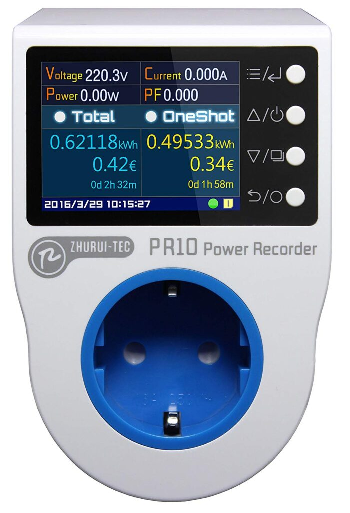 Image of the Zhurui PR10 Power Recorder.